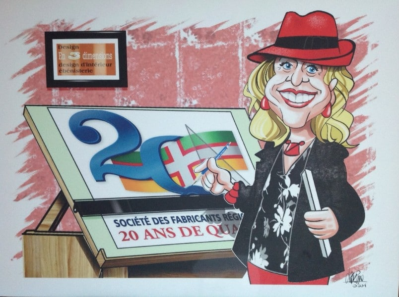 caricature Christine Laberge